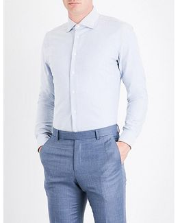 Contemporary-fit Cotton Oxford Shirt