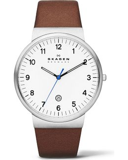 Skw6082 Three-hand Leather Watch