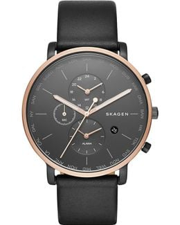 Skw6300 Hagen Rose Gold-plated Stainless Steel And Leather Watch