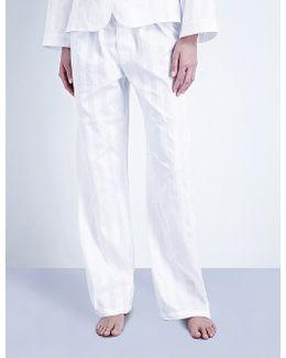 Shadow Stripe Cotton Pyjama Bottoms