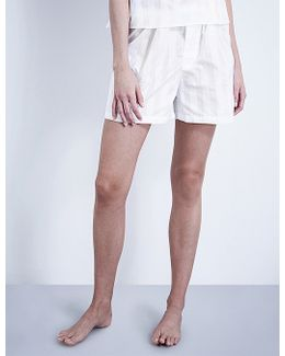 Striped Cotton Pyjama Shorts