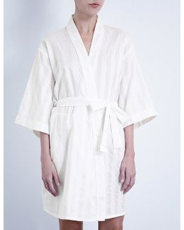 Shadow Stripe Cotton Robe