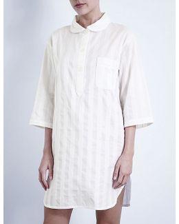 Shadow Stripe Cotton Nightshirt