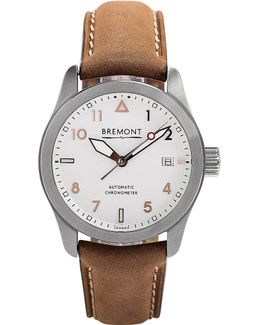 37rg Solo Stainless Steel And Leather Watch