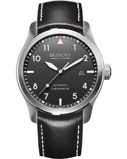 Solowh Stainless Steel And Leather Watch