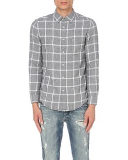 S-tas Checked Cotton Flannel Shirt