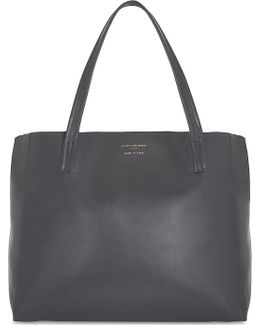Violet Leather Tote