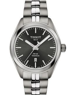 T1012104406100 Pr 100 Stainless Steel Watch