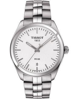 T101.410.11.031.00 Pr 100 Stainless Steel Watch