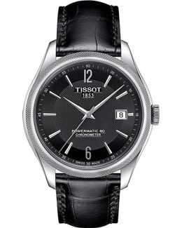 T1084081605700 Ballade Stainless Steel And Leather Watch