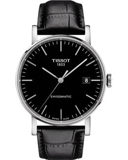 T109.407.16.051.00 Everytime Stainless Steel And Leather Watch