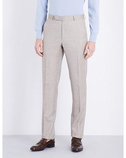 Hopsack Wool Trousers