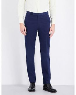 Regular-fit Straight Cotton Trousers