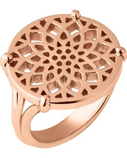 Timeless 18ct Rose-gold Vermeil Coin Ring