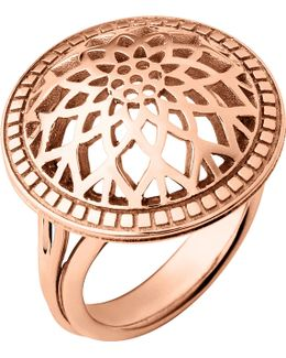 Timeless 18ct Rose-gold Vermeil Domed Ring