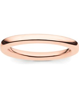 Glam & Soul 18ct Rose-gold Plated Sterling Silver Midi Band Ring