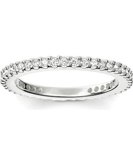 Glam & Soul Sterling Silver And Pavé Zirconia Midi Eternity Ring