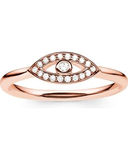 Fatima's Rose Gold Nazar's Eye Ring