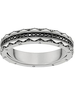 Filigree Sterling Silver And Zirconia Ring