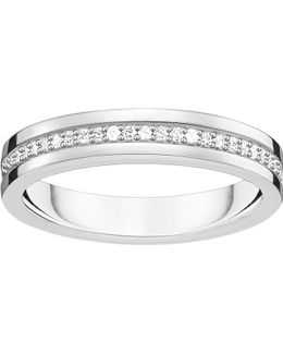 Sterling Silver And White Zirconia Ring