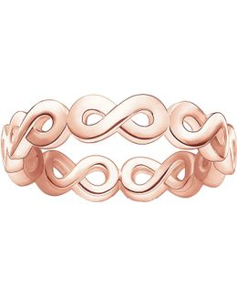 Infinity 18ct Rose Gold-plated Ring