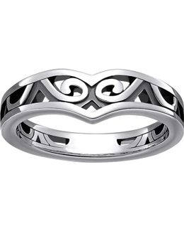 Maori Sterling Silver Whale Fin Ring