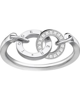 Together Forever Sterling Silver And Zirconia Ring