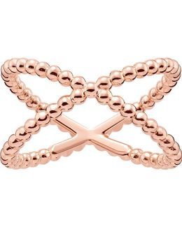 Criss-cross Dot 18ct Rose Gold-plated Ring