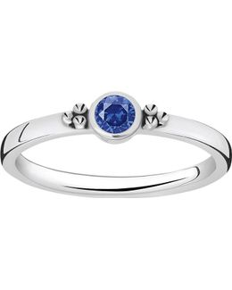 Royalty Blue Stone Sterling Silver Stacking Ring
