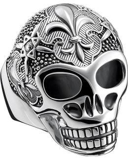 Rebel At Heart Sterling Silver Skull Ring