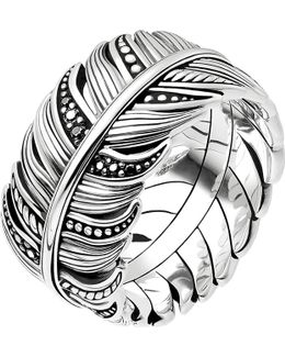 Rebel At Heart Feather Sterling Silver Ring