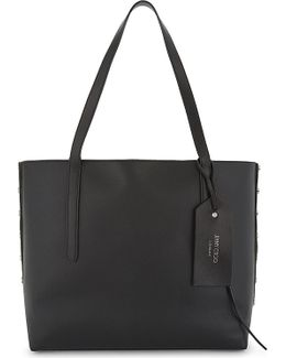 Twist East West Leather Tote