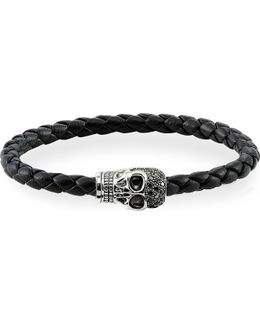 Black Zirconia Skull Unity Bracelet
