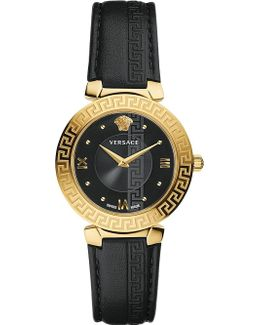 Divine Gold And Leather Watch