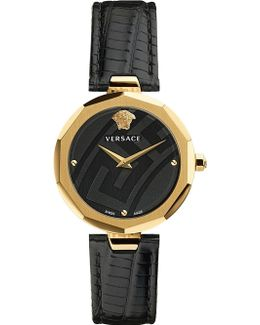 V-muse Gold And Leather Watch