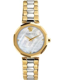 V-muse Gold And Stainless Steel Watch
