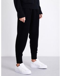 Dropped-crotch Cashmere-blend Jogging Bottoms