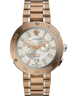 V-extreme Bronze Ip Stainless Steel Watch