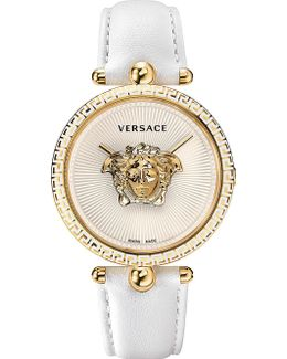 Palazzo Empire Yellow-gold And Leather Watch