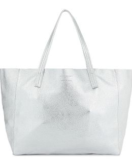 Violet Saffiano Leather Tote