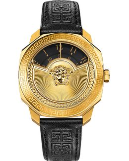 Vqu02 0015 Dylos Leather Watch