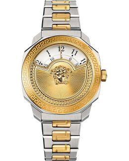 Vqdu040015 Dylos Two Tone Watch