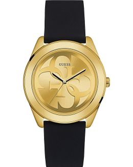 W0911l3 G Twist Gold-plated And Silicone Watch