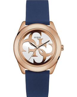 W0911l6 G Twist Gold-plated And Silicone Watch