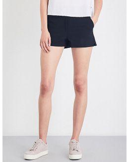 Carson High-rise Cotton-blend Shorts