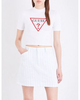 Guess Originals X A$ap Rocky Stretch-jersey Cropped Top