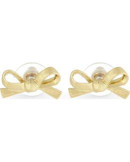 Skinny Mini Bow Stud Earrings