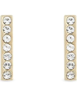 Dainty Sparklers Bar Stud Earrings