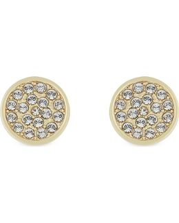 Dainty Sparklers Pavé Disc Earrings
