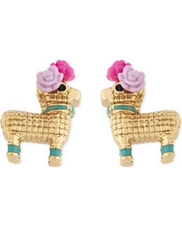 Haute Stuff Penny The Piñata Gold-plated Earrings